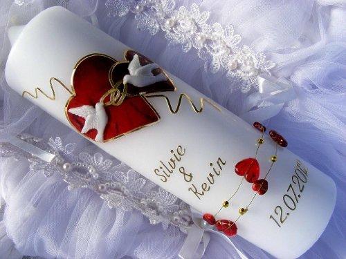 Hochzeitskerze 250/70 mm inkl. Beschriftung H-41