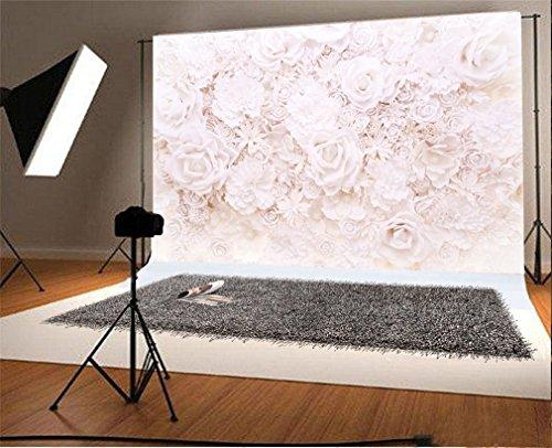 YongFoto 3x2m Vinyl Foto Hintergrund Shabby Chic Cherry Blossom Blumen Fotografie Hintergrund für Fotoshooting Portraitfotos Party Kinder Hochzeit Fotostudio Requisiten