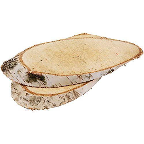 Creotime 567030 Holzscheiben, 15 x 9 cm, 1er Pack (1 x 7 Stück)