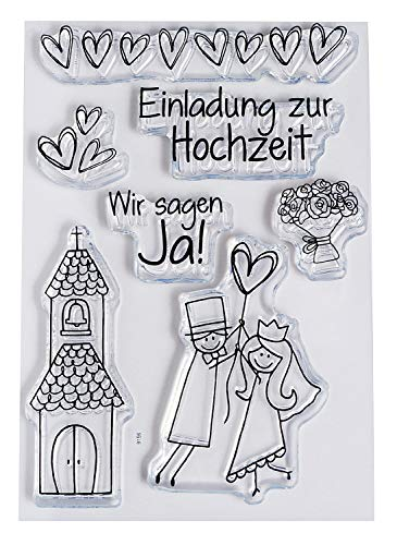Clear Stempel-Set'Hochzeit', ca. 7,4x10,5cm
