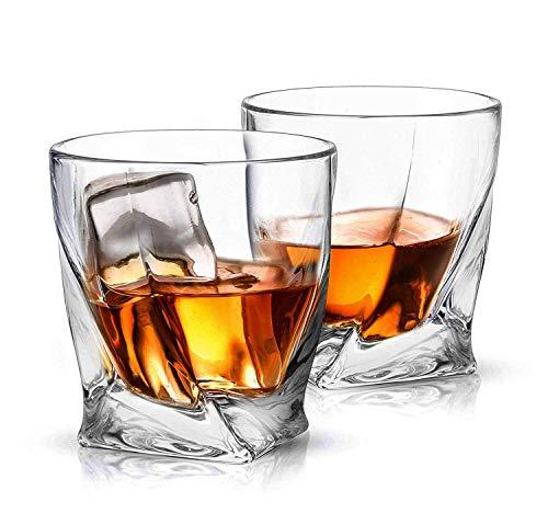 Ecooe 6 x Whiskeygl?ser Whisky Glas Set Whiskybecher 300ml