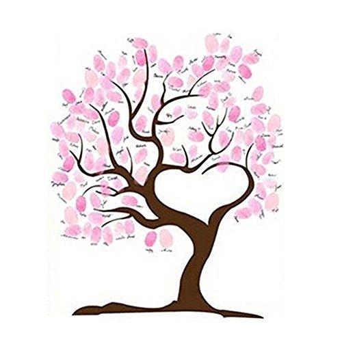 SwirlColor Hochzeits Fingerabdruck Baum Signatur Gästebuch Anmelden Bild (Typ 1)