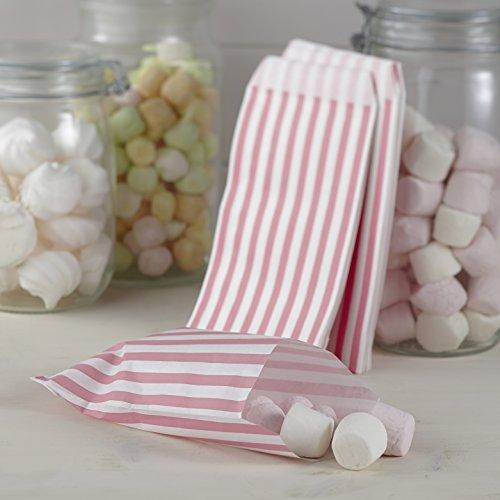 Ginger Ray Süßigkeitentüte, Vintage-Spitze, gestreift rosa/weiß