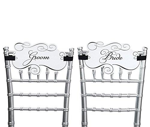 Lillian Rose Paar Braut und Bräutigam Stuhl Signs, 12Zoll von 17,8cm