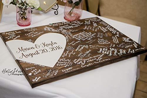 Eyrrme Alternative Hochzeits-Gästebuch Holz Gästebuch Hochzeitsdekoration Gästebuch