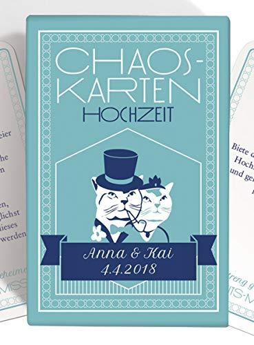 Chaoskarten Hochzeitsspiel – Das Original – PERSONALISIERT (Auf Wunsch auch Farbe)