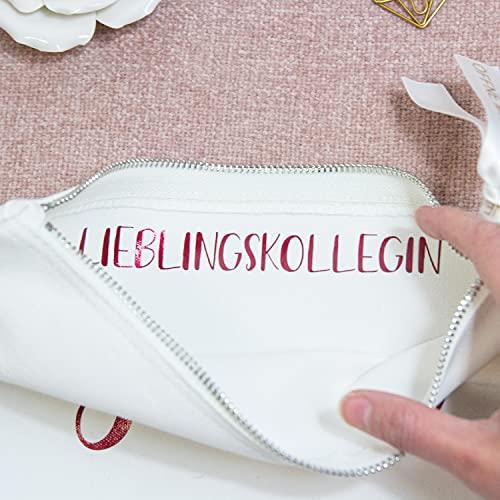Kosmetiktasche mit Innendruck - Geheime Nachricht Öffne mich Beutel - personalisierter Beutel mit Wunschtext