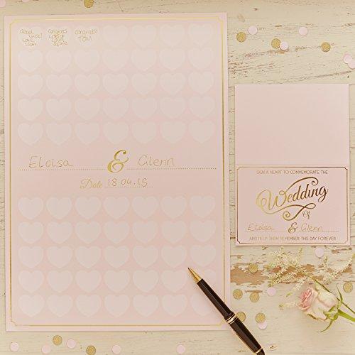 Ginger Ray Herz Hochzeit Alternative Gästebuch Andenken - In Pastellfarben Perfektion