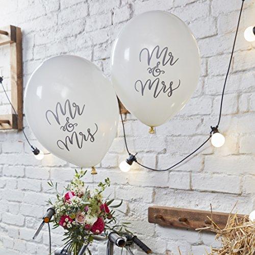 Ginger Ray Designer-Ballons Mr & Mrs, 10 Stück, Boho