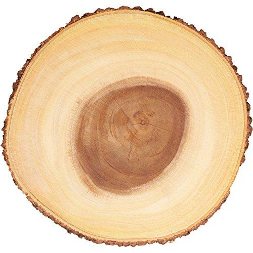 Artesa Rustikales Holz Käsebrett/Servierplatte mit Rindenrand, 32 cm (13 Zoll) Rund, Brown, (13 Inches)