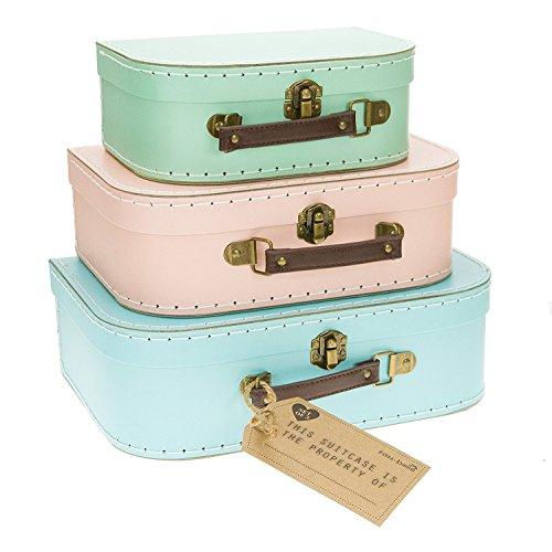 Sass&Belle 3er Kofferset pastellfarbig