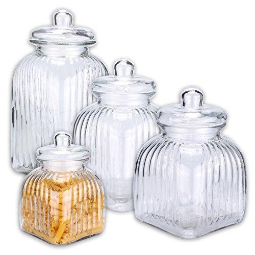 BONBONIERE 'Candy Keeper' Bonbonglas Vorratsglas Glas Gebäckdose Keksdose 2500, 3250 od. 4350 ml (groß)