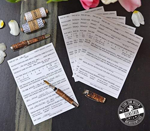 Gästebuch Hochzeit, 30 Karten lustige Fragen an Hochzeitsgäste zum Ausfüllen & einkleben, A5