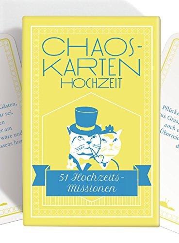 Chaoskarten Hochzeitsspiel – Das Original – 51 Aufgaben für eine lustige Hochzeit
