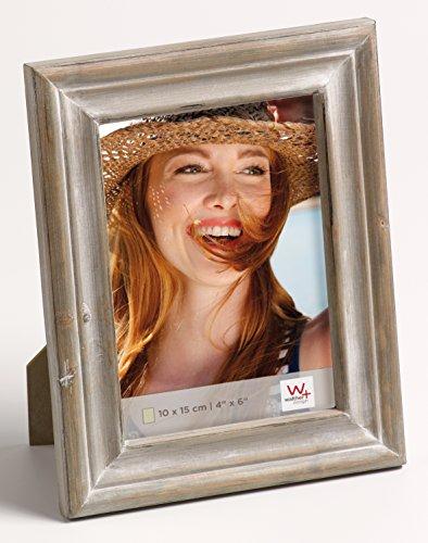 walther design QU015P Dijon Portraitrahmen, 10 x 15 cm, braun