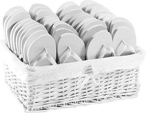 ZOHULA Weiß Originals Flip Flop Party Pack - 20 Paar 20xL (40-42)