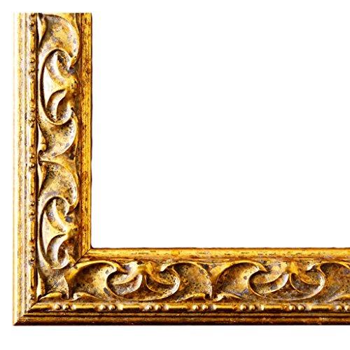 Bilderrahmen Mantova Gold 3,1 - WRF - 20 x 20 cm - 500 Varianten - alle Größen - handgefertigt - Galerie-Qualität Antik, Barock, Modern, Shabby, Landhaus - Fotorahmen Urkundenrahmen Posterrahmen