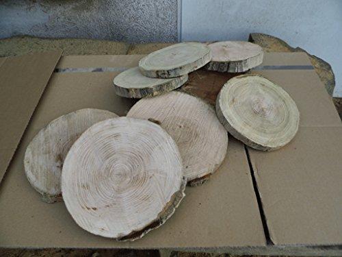 10 Baumscheiben, Holzscheiben,Baumscheibe, ca. 18-20 cm, Astscheiben