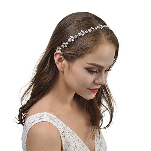 Remedios Silber Haarschmuck Hochzeit Haarband Stirnband Kopfstück