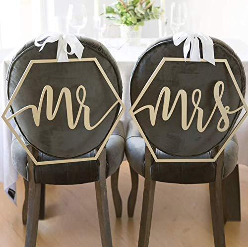 Stuhlanhänger Hochzeit Mr & Mrs - Stuhldeko Brautstühle