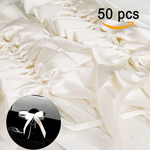 Infreecs 50 x Autoschleifen Hochzeit Antennenschleifen Dekoration für Hochzeit deko Party