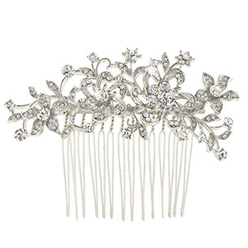 EVER FAITH® österreichischen Kristall Blume Muster Braut Haarkamm Haarschmuck N03785-1