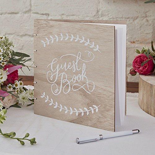 Boho-Chic Gästebuch aus Holz