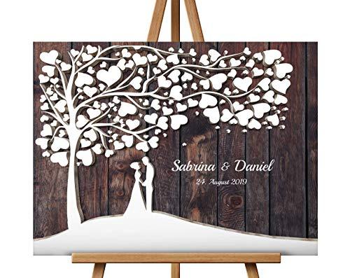 Hochzeitsbaum Hochzeitsgeschenk für Brautpaar, Wedding Tree Alternative Gästebuch, Gästebaum