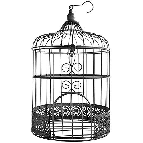 Vogelkäfig Groß schwarz 'Antik' ø 20 x 31 cm Gastgeschenk Hochzeit Tischschmuck