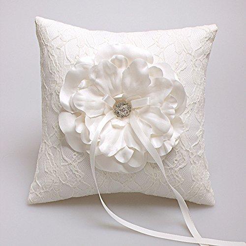 Hochzeit Ringkissen Kissen Träger mit Verzierung mit Blumen