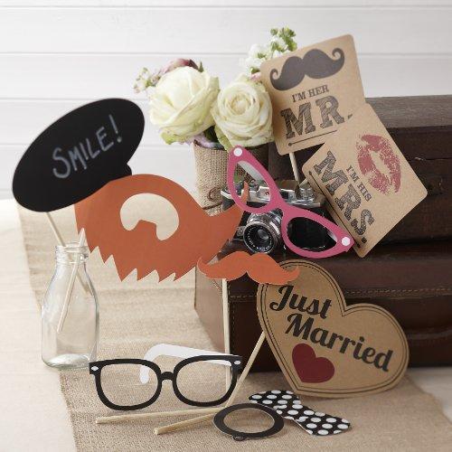 Ginger Ray AF-614 Mr & Mrs Hochzeit Photo Booth Requisiten Vintage Affair