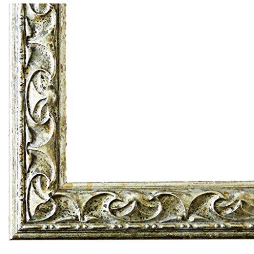 Bilderrahmen Mantova Silber 3,1 - WRF - 10 x 10 cm - 500 Varianten - alle Größen - handgefertigt - Galerie-Qualität Antik, Barock, Modern, Shabby, Landhaus - Fotorahmen Urkundenrahmen Posterrahmen