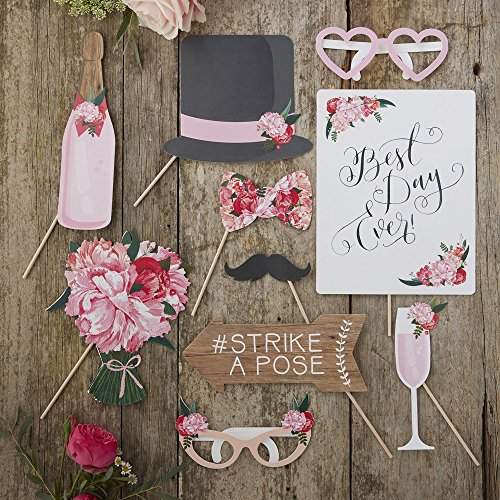 Photo Booth Props Boho Wedding 10tlg Set