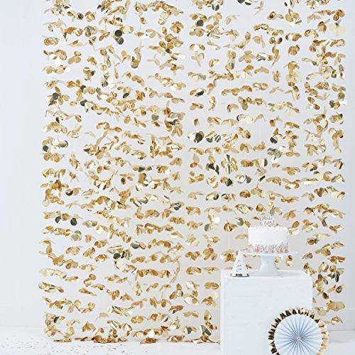 Ginger Ray Goldene Folien-Blumendekoration zum Aufhängen als Hintergrund für Fotoautomaten