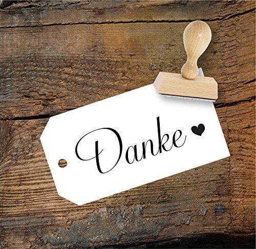 Hochzeit Stempel Danke mit Herz aus Buchenholz, Qualitätsprodukt aus Österreich, perfekt für DIY Wedding
