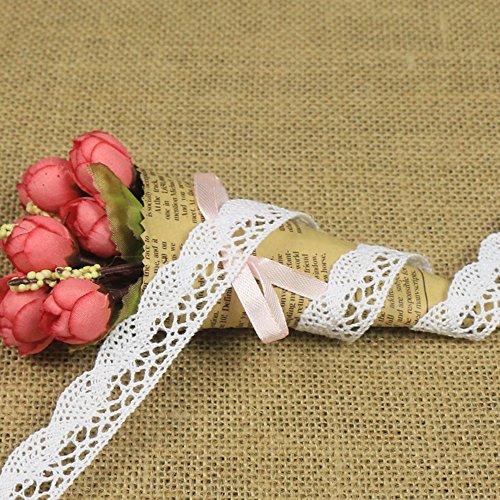 20 Meter Spitzenborte weiß Spitzenbordüre Vintage Spitzenband Dekoband,Spitze, Schleife,Schleifenband Weihnachts Hochzeit Borduere Geschenk