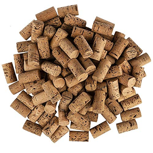 Ideen mit Herz Weinkorken zum Basteln | Naturkorken | 4,5 cm lang | Ø 2,4 cm | 100 Stück | dunkel