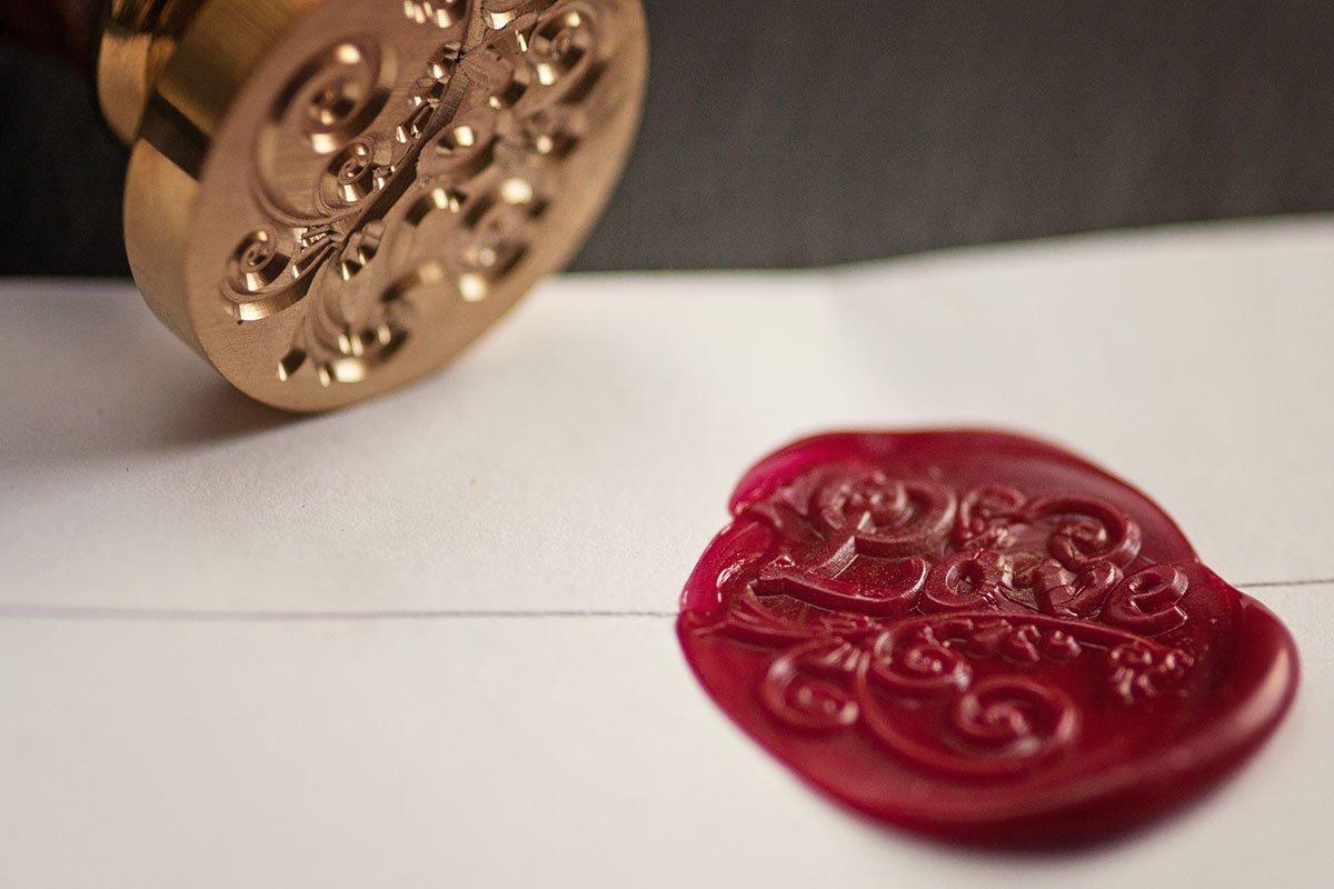 Love / Liebe Siegel für die Hochzeitseinladung oder einen Brief