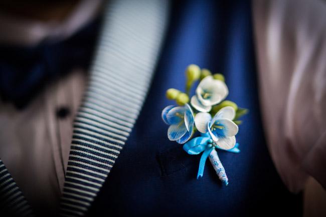 Boutonniere Die Ansteckblume Für Den Bräutigam
