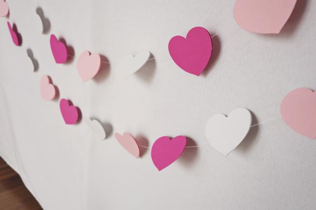 Girlande mit Herzen ganz einfach selber gemacht Bild 8
