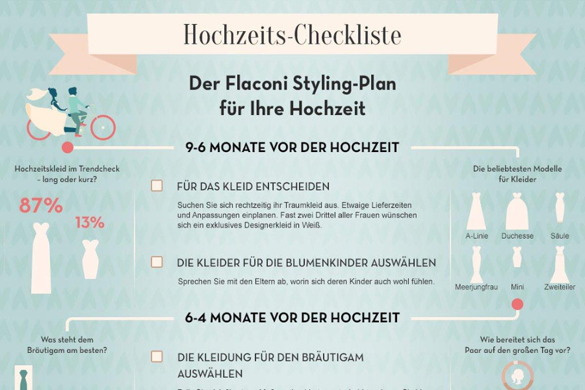 Infografik: Hochzeits-Checkliste
