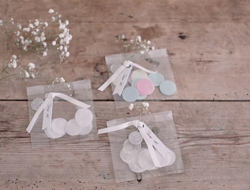 Konfetti für die Hochzeit hübsch verpacken
