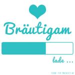 Profilbilder zum Thema Hochzeit für Facebook, Instagram und Co - Bräutigam lade... Hellblau