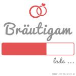 Profilbilder zum Thema Hochzeit für Facebook, Instagram und Co - Bräutigam lade... weiß rot mit Ringe