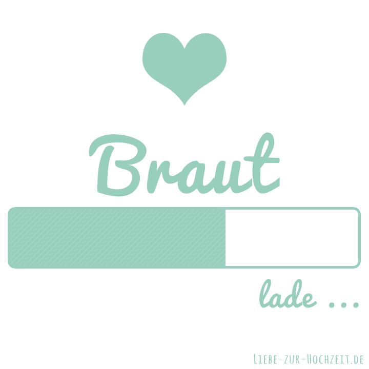 Braut lade Bild in mint