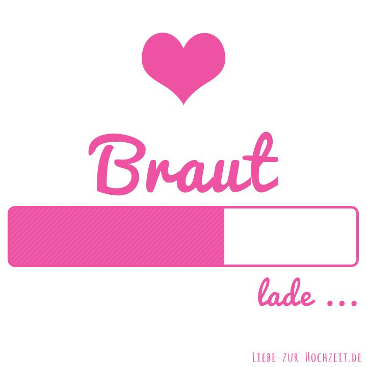 Braut lade Bild in pink