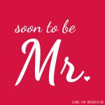 Profilbilder zum Thema Hochzeit für Facebook, Instagram und Co - soon to be Mr Bild 3