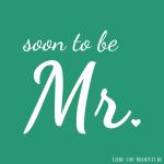 Profilbilder zum Thema Hochzeit für Facebook, Instagram und Co - soon to be Mr Bild 4