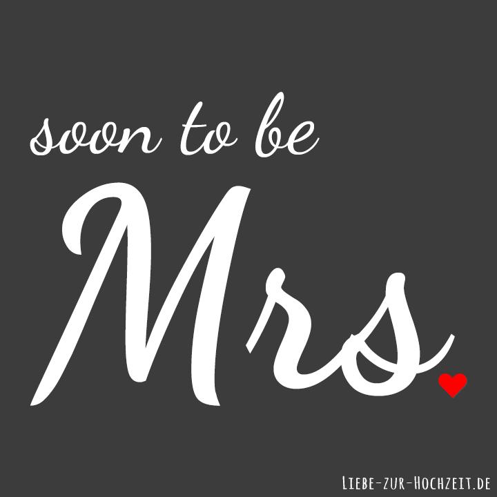 Profilbilder zum Thema Hochzeit für Facebook, Instagram & Co - soon to be Mrs. in grau