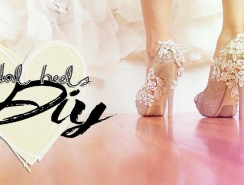 Normale Schuhe in Brautschuhe verwandeln